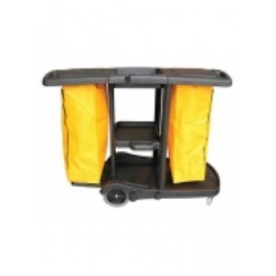 Plastic Dual Janitor Cart...