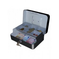 Black Cash Box With Lock...