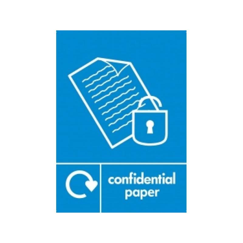 CONFIDENTIAL PAPER LABEL BLUE