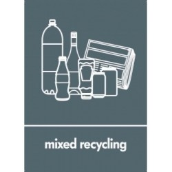 MIXED RECYCLING LABEL in...