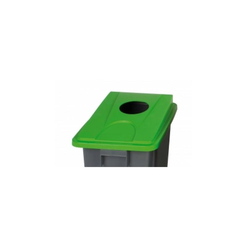Recycling Bin Universal Lid Fits Pb 1080 And 1090 Grey and Yellow