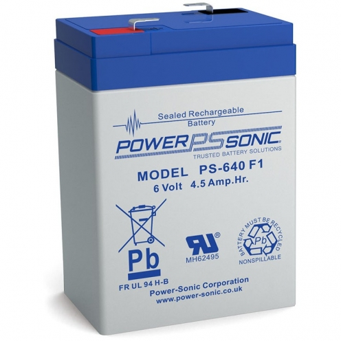 Power Sonic 6V 4.50Ah General Purpose Rechargeable Sealed Lead Acid Battery